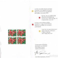 Sellos: SUIZA IVERT Nº 1592, LAZO SOBRE REGALO, PRIMER DIA DE 25-11-1998 EN FELICITACION DE NAVIDAD 1999. Lote 266923349