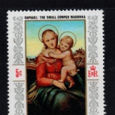 Sellos: DOMINICA 236** - AÑO 1968 - NAVIDAD - PINTURA RELIGIOSA - OBRA DE RAPHAEL. Lote 268748424