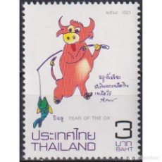 Sellos: ⚡ DISCOUNT THAILAND 2021 CHINESE NEW YEAR - YEAR OF THE OX MNH - NEW YEAR. Lote 268836049