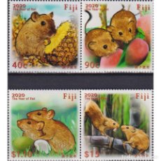Sellos: ⚡ DISCOUNT FIJI 2020 CHINESE NEW YEAR - YEAR OF THE RAT MNH - NEW YEAR. Lote 270388408