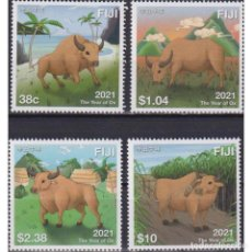 Sellos: ⚡ DISCOUNT FIJI 2021 CHINESE NEW YEAR - YEAR OF THE OX MNH - NEW YEAR, COWS. Lote 270388433