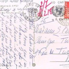 Sellos: SUIZA, UNICEF, 10 TARJETAS DE FELICITACION DE NAVIDAD, 1 NIÑO SALVADO, RODILLO DE 30-7-1970. Lote 275740833