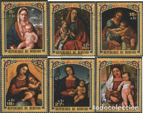 BURUNDI 1973 IVERT 577/9 Y AÉREO 313/5 *** NAVIDAD - CUADROS DE LA VIRGEN - ARTE - PINTURA (Sellos - Temáticas - Navidad)