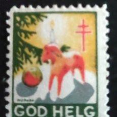 Sellos: SELLO SUECO. NAVIDAD SUECIA. GOD HELG SVERIGE 1945 1946. Lote 277050758