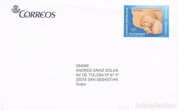 AÑO 2009, NAVIDAD, EN SOBRE ENTERO POSTAL DEL SERVICIO FILATELICO (Sellos - Temáticas - Navidad)