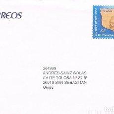 Sellos: AÑO 2009, NAVIDAD, EN SOBRE ENTERO POSTAL DEL SERVICIO FILATELICO. Lote 277510513