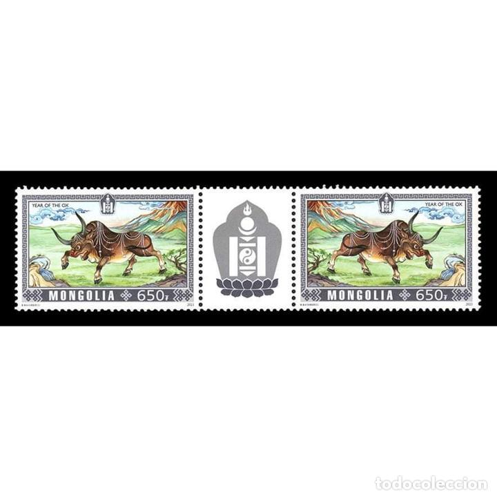 ⚡ DISCOUNT MONGOLIA 2021 YEAR OF THE OX MNH - NEW YEAR (Sellos - Temáticas - Navidad)
