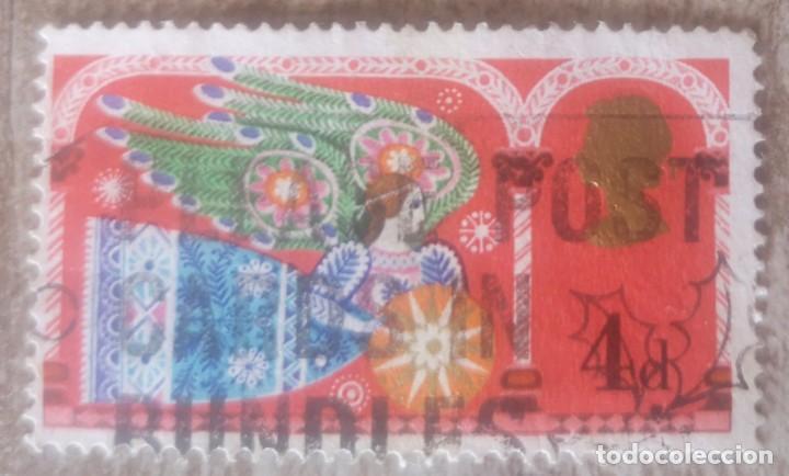 INGLATERRA 1969, NAVIDAD,ANGEL (Sellos - Temáticas - Navidad)