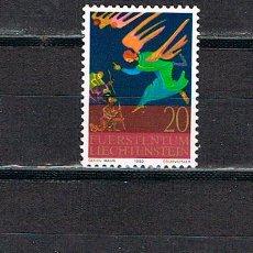 Sellos: LIECHTENSTEIN IVERT 702/4, NAVIDAD 1980, NUEVO *** SERIE COMPLETA. Lote 278821133