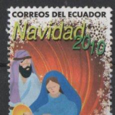 Selos: ECUADOR NAVIDAD 2010 SELLO USADO * LEER DESCRIPCION. Lote 280349568