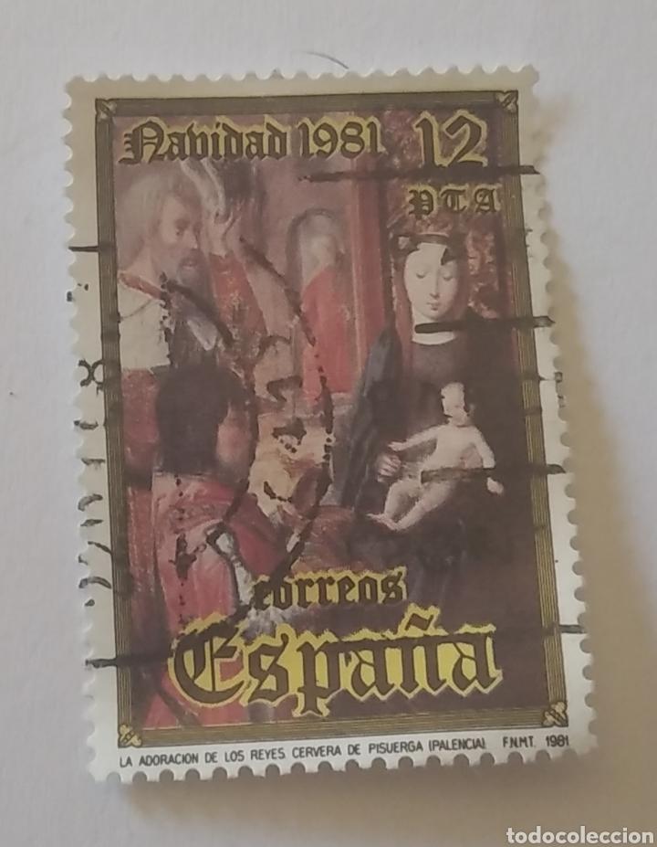 SELLO ESPAÑA NAVIDAD 1981 USADO (Sellos - Temáticas - Navidad)
