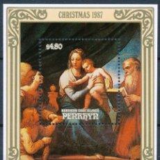 Sellos: PENRHYN 1987 HB IVERT 78 *** NAVIDAD - DETALLES DE OBRAS DE RAPHAEL - PINTURA. Lote 287552193