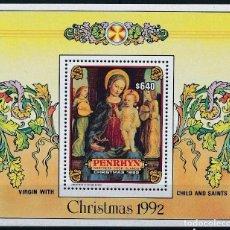 Sellos: PENRHYN 1992 HB IVERT 85 *** NAVIDAD - PINTURA DE AMBROGIO BORGOGNONE - ARTE. Lote 287552613