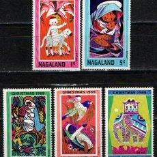 Sellos: NAGALAND, NAVIDAD 1969, NUEVO *** (SERIE COMPLETA), RARA EN NUEVO. Lote 287932768