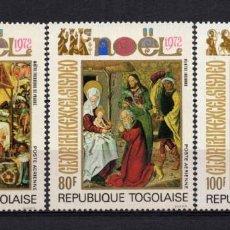 Sellos: TOGO AÉREO 193/95** - AÑO 1972 - NAVIDAD - PINTURA RELIGIOSA. Lote 288071468