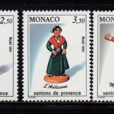Sellos: MONACO 1794/96** - AÑO 1991 - NAVIDAD - SANTONS DE PROVENZA. Lote 288571663