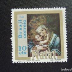 Sellos: BRASIL Nº YVERT 915*** AÑO 1969. NAVIDAD. Lote 288736488