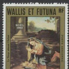 Sellos: WALLIS Y FUTUNA 1982 AÉREO IVERT 121 *** NAVIDAD - PINTURA - LA VIRGEN Y EL NIÑO. Lote 289305018