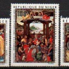 Sellos: NIGER AEREO IVERT Nº 170/2, NAVIDAD 1971, CUADROS, NUEVO ***, SERIE COMPLETA. Lote 293459008