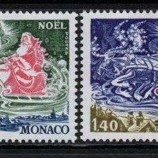 Sellos: MONACO 1113/14** - AÑO 1977 - NAVIDAD. Lote 294459488