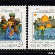 Sellos: MICRONESIA 256/57** - AÑO 1993 - NAVIDAD. Lote 295355333