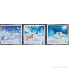 Sellos: ⚡ DISCOUNT LATVIA 2001 CHRISTMAS STAMPS MNH - CHRISTMAS. Lote 295971953