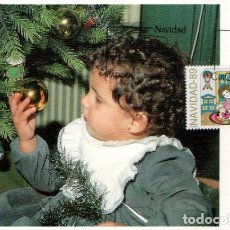 Sellos: EDIFIL 3037, NAVIDAD 1989, TARJETA MAXIMA PRIMER DIA DE 29-11-1989. Lote 297272938