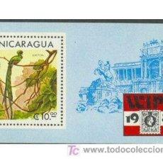 Sellos: NICARAGUA 1981 FAUNA PAJAROS WIPA-81 HOJITA BLOQUE. Lote 18951997