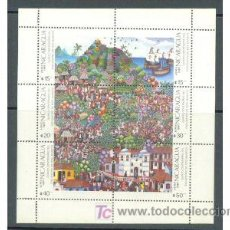 Sellos: NICARAGUA 1987 DESCUBRIMIENTO DE AMERICA MINI HOJA - YVERT Nº 1209/1214. Lote 119228234