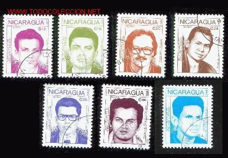 NICARAGUA 1988. HÉROES Y MARTIRES DE LA REVOLUCIÓN (Sellos - Extranjero - América - Nicaragua)