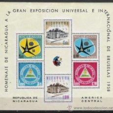Sellos: NICARAGUA HOJITA Nº 86 BRUSELA 1958 . Lote 15907229