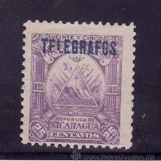 Sellos: NICARAGUA TELEGRAFOS 46 CON CHARNELA, SOBRECARGADO. Lote 24665667