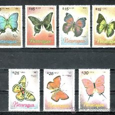 Sellos: NICARAGUA 1432, A 1165/70 SIN CHARNELA, FAUNA, MARIPOSAS, . Lote 24666658