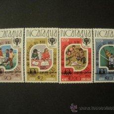 Sellos: NICARAGUA 1981 AEREO IVERT 947/50 *** AÑO INTERNACIONAL DEL NIÑO - AÑO DE LA ALFABETIZACIÓN. Lote 31073937