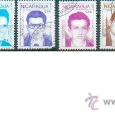Francobolli: 8 SELLOS DEDICADOS A LOS HÉROES DE LA REVOLUCIÓN. Lote 32373054