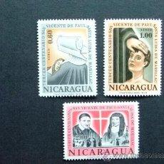 Sellos: NICARAGUA YV 486 - 488 ** MNH . Lote 34560824