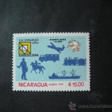 Sellos: NICARAGUA 1984 AEREO IVERT 1068 *** 19º CONGRESO DE LA U.P.U. EN HAMBURGO. Lote 34871337