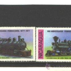 Sellos: NICARAGUA 1978 - YVERT NRO. 1098-99 - LOCOMOTORAS. - SIN GOMA. Lote 37963747