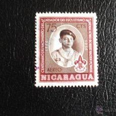 Sellos: NICARAGUA. A 355 CENTENARIO MOVIMIENTO SCOUT. 1957. SELLOS USADOS Y NUMERACIÓN YVERT.. Lote 44869708