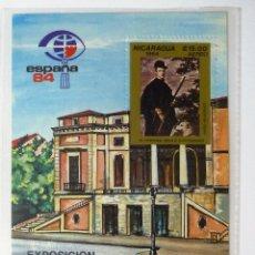 Sellos: HB NICARAGUA 1984. EXPOSICION MUNDIAL DE FILATELIA ESPAÑA 84. NUEVA.. Lote 45794176