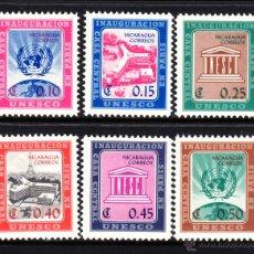 Sellos: NICARAGUA 832/37** - AÑO 1958 - NUEVA SEDE DE LA UNESCO EN PARIS. Lote 46639670