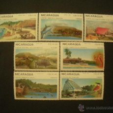 Sellos: NICARAGUA 1989 IVERT 1514 Y AEREO 1272/77 *** TURISMO EN NICARAGUA - PAISAJES. Lote 50611085