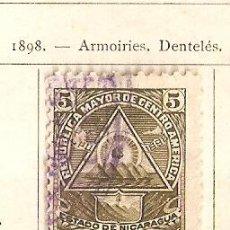 Sellos: NICARAGUA. 1898. YVERT Nº 102.. Lote 51392586