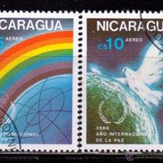 Sellos: NICARAGUA 1986. SERIE. AÑO INTERNACIONAL DE LA PAZ. *,MH. Lote 52333190