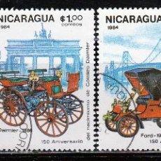 Sellos: NICARAGUA 1984. SERIE: 150º ANIVERSARIO DE GOTTLIEB DAIMLER. *,MH. Lote 53863616