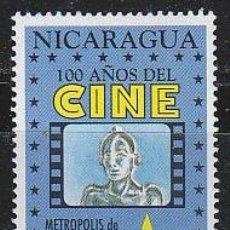 Sellos: NICARAGUA IVERT 1891, METROPOLIS DE FRITZ LANG (CENTENARIO DEL CINE), NUEVO ***. Lote 53891185
