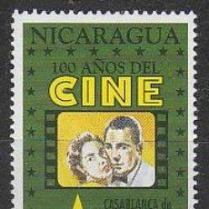 Sellos: NICARAGUA IVERT 1890, CASABLANCA DE MICHAEL CURTIZ (CENTENARIO DEL CINE), NUEVO ***. Lote 53891203