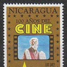 Sellos: NICARAGUA IVERT 1888, LOS DIEZ MANDAMIENTOS DE CECIL B. DEMILLE (CENTENARIO DEL CINE), NUEVO ***. Lote 53891294