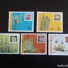Francobolli: NICARAGUA. 1479, 1481 + A 1220/22 CACTUS Y SUS FLORES: LOPHOCEREUS, ECHINOCEREUS, LEMAIROCEREUS, SAG. Lote 63286628
