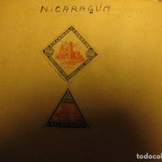 Sellos: DOS SELLOS ANTIGUOS DE NICARAGUA. Lote 64298263